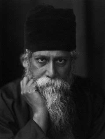 A portrait of Rabindranath Tagore, the Bengali poet and philosopher, 1920 -by E.O. Hoppé - Corbis
