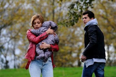 """Tournage du film """"Deux petites filles en bleu"""". Lyon. Octobre 2013"""